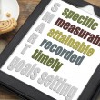 Stock Photo: Smart goal setting concept