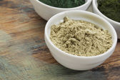 Kelp seaweed powder — Stock Photo