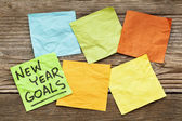 New Year goals note — Stock Photo