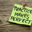 Practice makes perfect — Stock Photo