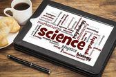 Wetenschap takken word cloud — Stockfoto