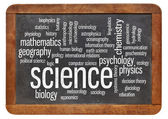Branched of science word cloud — Stock Photo