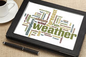 Weather word cloud — Stock Photo