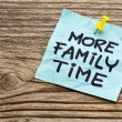 Stock Photo: More family time reminder