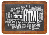Html - hypertext markup language — Stock Photo