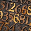 Wood type number abstract — Stock Photo #39322507