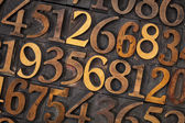 Wood type number abstract — Stock Photo