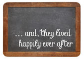 Fairytale happy end phrase — Stock Photo