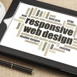 design web responsivo — Foto Stock