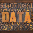 Data word in wood type — Stock Photo