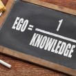 Ego and knowledge concept — Stock Photo