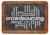 Crowdsourcing word cloud — Stock Photo