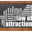 Stockfoto: Law of attraction word cloud