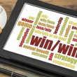 Win-win strategy word cloud — Stock Photo