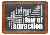 Law of attraction word cloud — Stock Photo