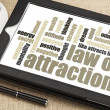 Law of attraction word cloud — Stockfoto #40252821