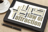 Law of attraction word cloud — Zdjęcie stockowe