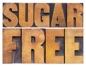 Sugar free in wood type — Stock Photo