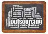Outsourcing word cloud — Stockfoto
