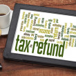 Stock Photo: Tax refund word cloud