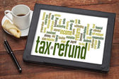 Tax refund word cloud — Stock Photo