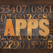 Apps (applications) word in wood type — Stock Photo