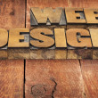 Web design in wood type — Stock Photo #40639987