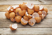 Pile of broken eggshells — Stock Photo
