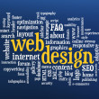 Web ontwerp word cloud — Stockfoto