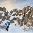 Winter hiking at Natural Fort — Stock Photo #40871249