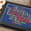 Stock Photo: Carpe DIem word cloud