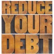 Reduce your debt — Stock Photo #40872571