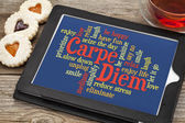 Carpe DIem word cloud — Stock Photo