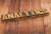 Analytics word typography — Foto Stock