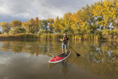Stand up paddling (SUP) — Stock Photo