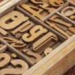 Stock Photo: Letterpress wood type abstract