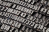 Random numbers in metal type — Stock Photo