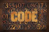 Codewoord op nummer achtergrond — Stockfoto