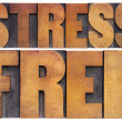 Stress free in wood type — Stock Photo