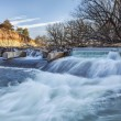 Stock Photo: River diversion dam in Colorado