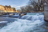River diversion dam in Colorado — Stock Photo