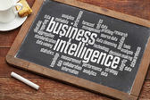 Business intelligence word cloud — Stock Photo