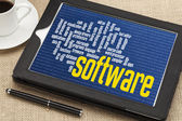 Computer software word cloud — Stock Photo