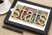 Stats (statistics)  in wood type — Stock Photo