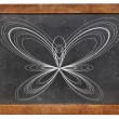 Butterfly curve on blackboard — Stock Photo #41852571