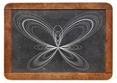 Butterfly curve on blackboard — Stock Photo