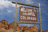 Colorado welcome sign — Stock Photo