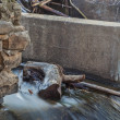 Detail of old river dam — Stock Photo #42146377