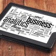 Business analytics word cloud — Stock Photo #42142067