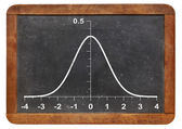 Gaussian function on blackboard — Stock Photo